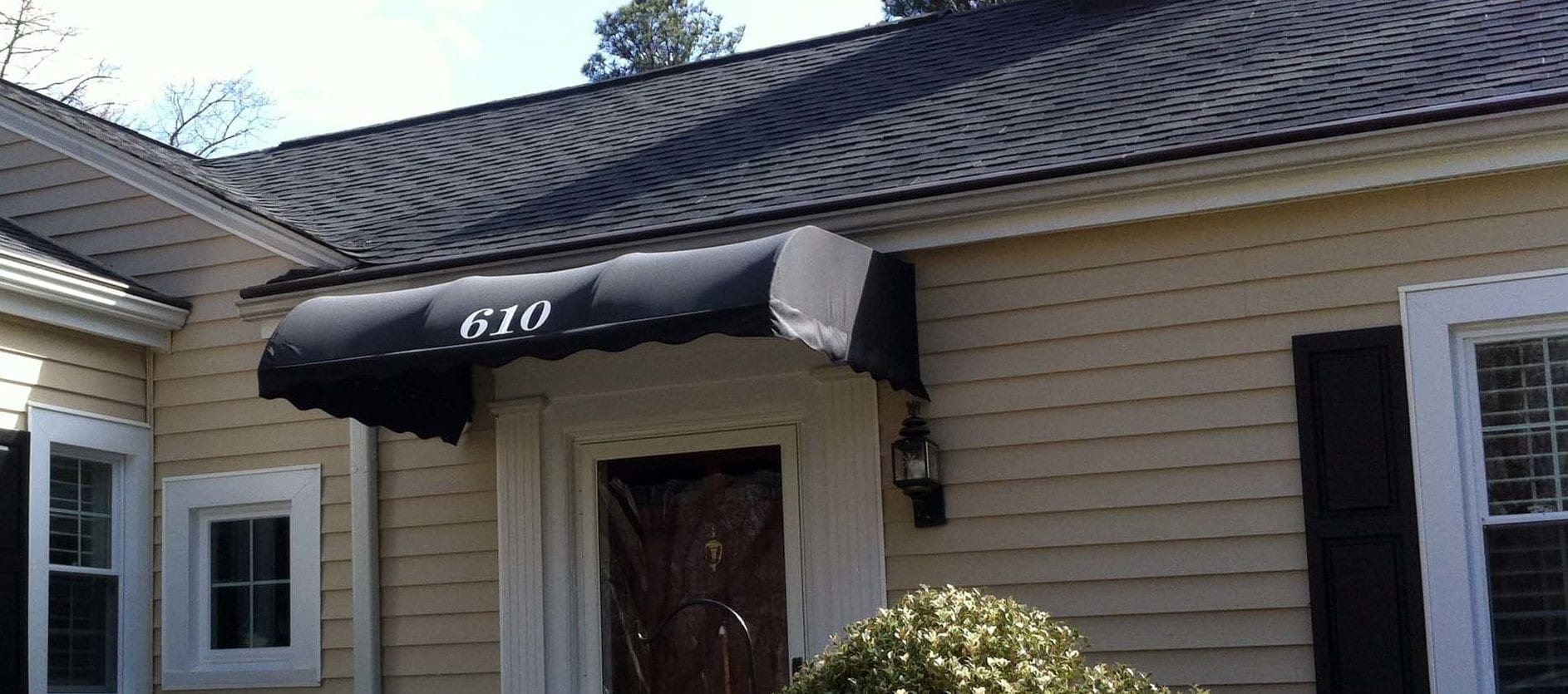 Convex Style Door Awning - Door and window awnings - Greenville Awning Company in Greenville, SC